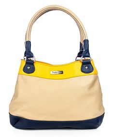 30% discount on Beige Yellow Faux Leather Handbag at 99 labels