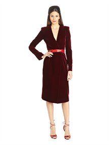 Oscar de la Renta, Silk Velvet Cocktail Dress
