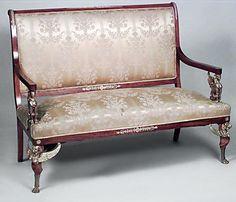 French Empire seating salon set mahogany