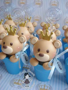 Porcelana fría Fimo Clay, Polymer Clay Art, Clay Crafts, Diy And Crafts, Clay Bear, Baby Shower Souvenirs, Teddy Bear Cakes, How To Make Clay, Baby Shawer