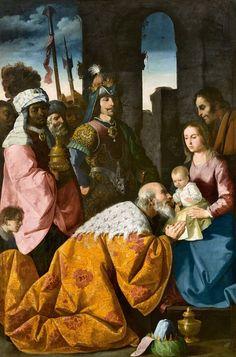 Francisco de Zurbarán. Adoración de los Magos, c. 1638-1639
