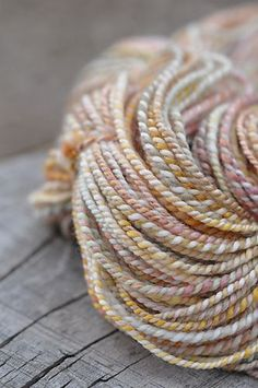 pastel handspun yarn by hellskitsch on Ravelry Yarn Thread, Yarn Stash, Spinning Wool, Hand Spinning, Wool Yarn, Knitting Yarn, Yarn Inspiration, Diy Couture, Yarn Colors