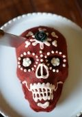 """Red Velvet """"Dia de los Muertos"""" Cake from Cupcakes & Cashmere {perfect for the Halloween Party Cake Walk!}"""