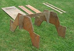 Total Utilization: A plywood picnic table