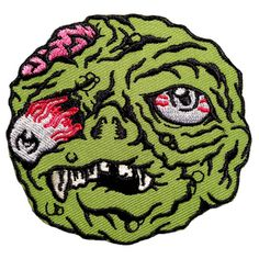 """3"""" embroidered iron-on patch. Inspired by the bootleg Madballs toys from the 1980s."""