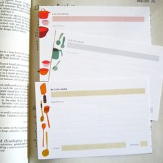 'Clink and Clatter' Recipe Cards