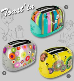 Replace Your Plain Old Toaster with a colorful one like this! Pylones (our favorite fun store!)
