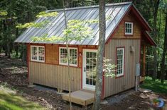 The Skyeia Tin Roof Tiny Cabin at Blue Moon Rising | Tiny House Pins
