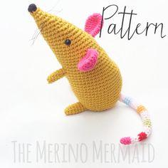 Martha the Mouse Amigurumi Crochet Toy Pattern by TheMerinoMermaid
