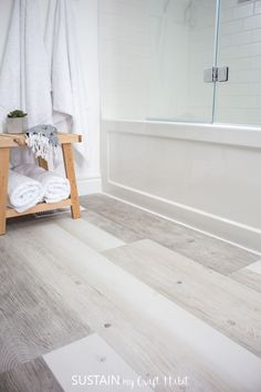 installing-vinyl-plank-flooring-over-tile-is-a-simple-way-to-update-your-bathroom-check-out-our-diy-tutorial-with-tips-for-how-to-install-home-depot/ SULTANGAZI SEARCH Installing Vinyl Plank Flooring, Vinyl Flooring Bathroom, Bathroom Vinyl, Luxury Vinyl Flooring, Luxury Vinyl Tile, Vinyl Tiles, Luxury Vinyl Plank, Diy Flooring, Washroom