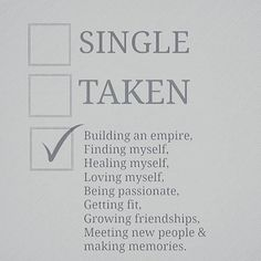 Why not tick 2 out of 3? Who says you can only have the 1? So now that one important case is done which next? . . . . . #lifechoice #mindset #positive #taken #single #makingmemories #love #buildinganempire #healing #passionate #fit #friendship #loveyourself #happy