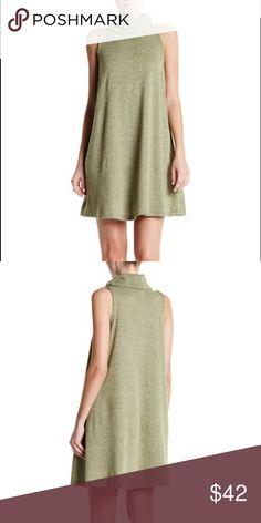 "Bobeau - Sleeveless Cow Neck Dress Bobeau - Sleeveless Cow Neck Dress.                               Details - Cowl neck - Sleeveless - Approx. 36"" length Armpit To Armpit 18""  - Made in USA. Bobeau Dresses"