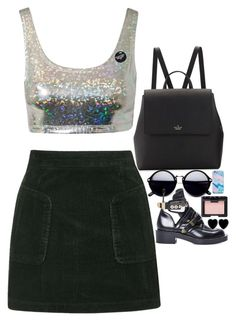 """""""holographic mind"""" by starscounter394 on Polyvore featuring moda, Estradeur, Topshop, Kate Spade, NARS Cosmetics y Dollydagger"""