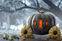 Cinderella's carriage pumpkin. I'm doing this next year! Lisa