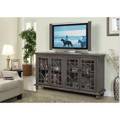 Coast Treasure Trove Accents Transitional Joplin Grey TV Console (Credenza)