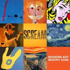 Amazon.fr - Modern Art Memory Game - . - Livres