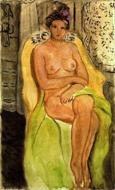 Henri Matisse - Nude in an Armchair Legs Crossed