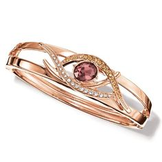 Chocolate Shimmer Bracelet - Open design oval cuff bracelet with faceted brown center faux stone with clear and brown rhinestones set in rose goldtone. Regularly $19.99, buy Avon Jewelry online at http://eseagren.avonrepresentative.com