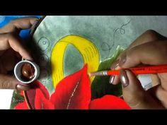 Pintura en tela nochebuena # 2 con cony - YouTube