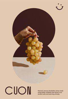 CUON wine postcard - simplistic design by Poster Layout, Print Layout, Layout Design, Print Design, Design Design, Design Trends, Graphic Design Posters, Graphic Design Typography, Branding Design