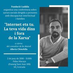 El domingo 2 de junio impartiré una sesión que me hace mucha ilusión.   Gracias a Fundació Ludàlia por darme la oportunidad de acercar a estas personas mis conocimientos sobre redes sociales e identidad digital. #ComDigital #HuellaDigital