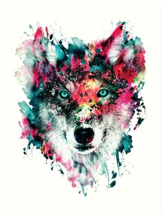 This Watercolor Wolf was beautifully designed by RizaPeker. Order this wolf tee shirt and shop a variety of other graphic tees at TeeFury today! Watercolor Wolf, Watercolor Animals, Square Art, Square Canvas, Wolf Poster, Tableau Pop Art, Wolf Canvas, Wolf Wallpaper, Fine Art Prints