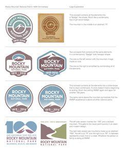Rocky Mountain National Park's 100th Anniversary logo by Kevin Bradshaw, via Behance
