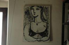 Donna.  Dipinto di Rita Pedullà