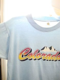 vintage 80's colorado mountains pikes peak tourist soft paper thin t shirt m from $24.99