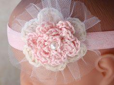Newborn Headband Photography Prop Baby Girl by BabyGraceHats, $12.00