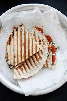 Tomato ricotta quesadillas via Fork and Flower on Thou Swell @thouswellblog