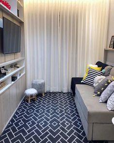 The Best 2019 Interior Design Trends - Interior Design Ideas Narrow Living Room, Tiny Living Rooms, Living Room Modern, Small Rooms, Home And Living, Simple Living Room Decor, Studio Apartment Decorating, Home Decor Furniture, Interior Design