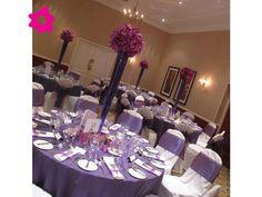 Combinación de boda de color morado con rosa
