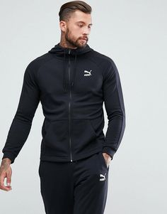 Puma Skinny Fit Tracksuit Set In Black, Men's Track suit, cold weather running, sports Track suit, soccer track jacket, soccer track pants, futsal track suit, jogging compression suit, breathable, moisture wicking, athletic wear, gym wear, men's fitness, sports wear, health wear, weight loss wear, activewear, #affiliate, #ad