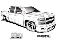 Old Chevy Truck Drawings | trucks | Art cars, Truck art ...