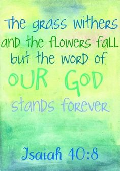 God's word is relevant in every season of our life...