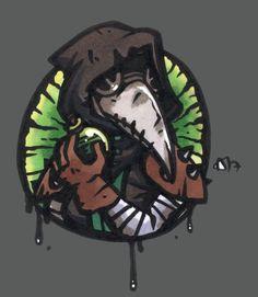 Darkest Dungeon: Plague Doctor by Kutori on DeviantArt Rpg World, Dark Comics, Darkest Dungeon, Plague Doctor, Scp, Video Game Art, Discord, Character Concept, Logo Inspiration