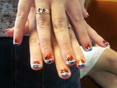 OKC Thunder Nails :)