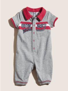"Guess ""Varsity Stripe"" Coverall & Socks Set - baby boys"