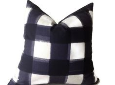 Pillows, Caitlin Wilson Pillow, Buffalo Check Pillow, Navy Throw Pillows, High End Geometric Pillows, Pillow Covers