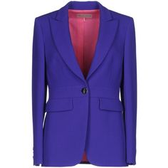 Emilio Pucci Blazer ($1,150) ❤ liked on Polyvore featuring outerwear, jackets, blazers, mauve, wool collar jacket, long sleeve jacket, lapel jacket, multi pocket jacket and wool jacket