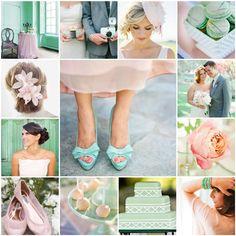 mint green and blush wedding