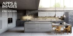 Modern Kitchens Design White Grey Kitchen Island Cabinet Chairs With Two Pendant Lamp Simple Grey Kitchen Cabinets For Small Kitchen Design Ideas