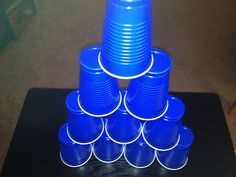 CUP STACKING Minute to Win it Games for a Birthday Party.