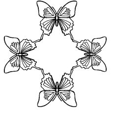 Large selection of FREE butterfly coloring pages from TheButterflySite.com!