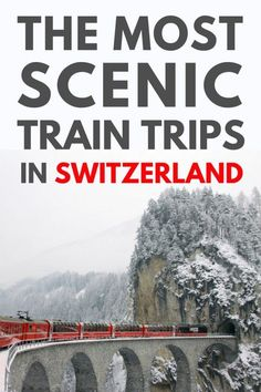 Scenic Train Trips In Switzerland With Views To Die For Magical! Ignite your wanderlust with these scenic train trips in Switzerland. Climb to the highest peaks & down through the lowest valleys of one of Europes most beautiful countries. (Click through Ways To Travel, Europe Travel Tips, European Travel, Places To Travel, Places To See, Travel Destinations, Traveling Europe, Travel Hacks, Europe Packing