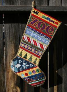 Zoe's Personalized Needlepoint Stocking
