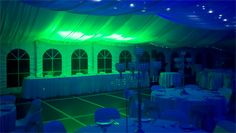 Light green and deep Blue wedding day lights On Your Wedding at DJ MAGOO we let you select your room to be any colour you want!