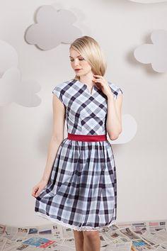 Kleid+mit+angeschnittenen+Ärmeln+kariert+von+Bergluft+auf+DaWanda.com Etsy, Summer Dresses, Vintage, Style, Fashion, Dresses For Women, Moda, Summer Sundresses, La Mode