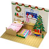 Christmas pop-up card. Click on link for free template. http://paperm.jp/craft/hagaki/popup/xmas/index.html